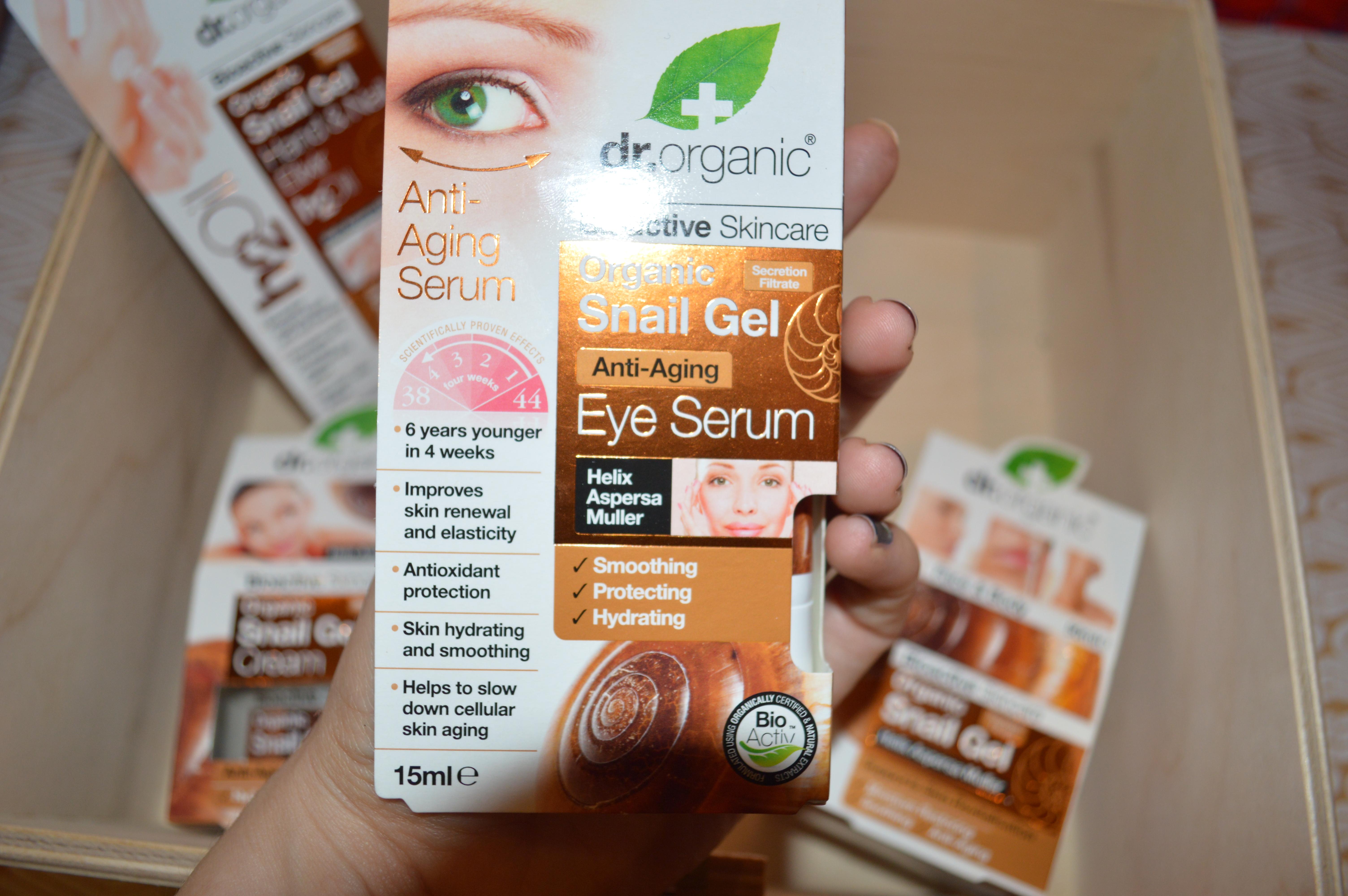 Dr. Organic Skincare Secret Revealed - Product: Snail Gel Eye Serum
