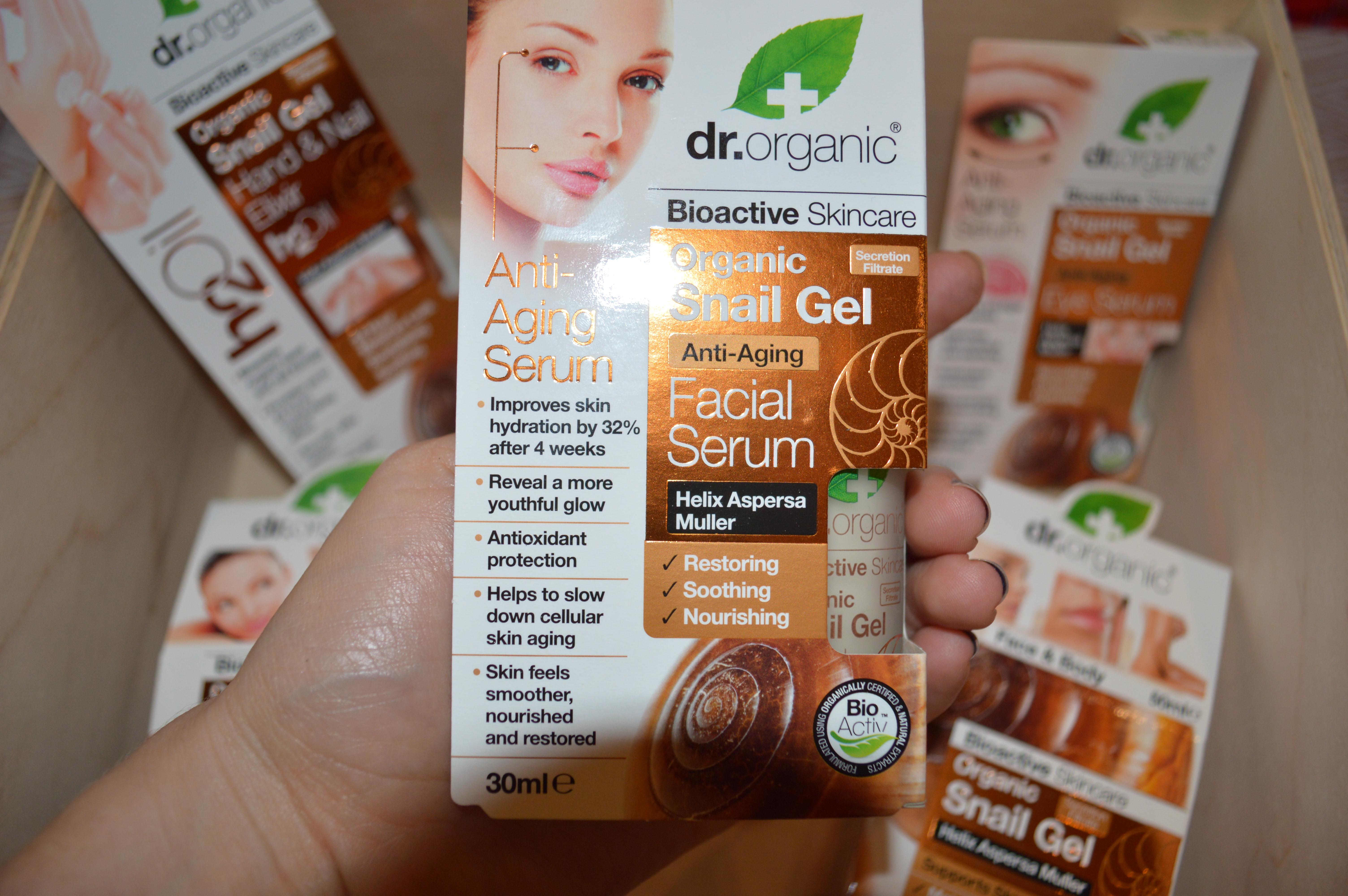 Dr. Organic Skincare Secret Revealed - Product: Snail Gel Facial Serum
