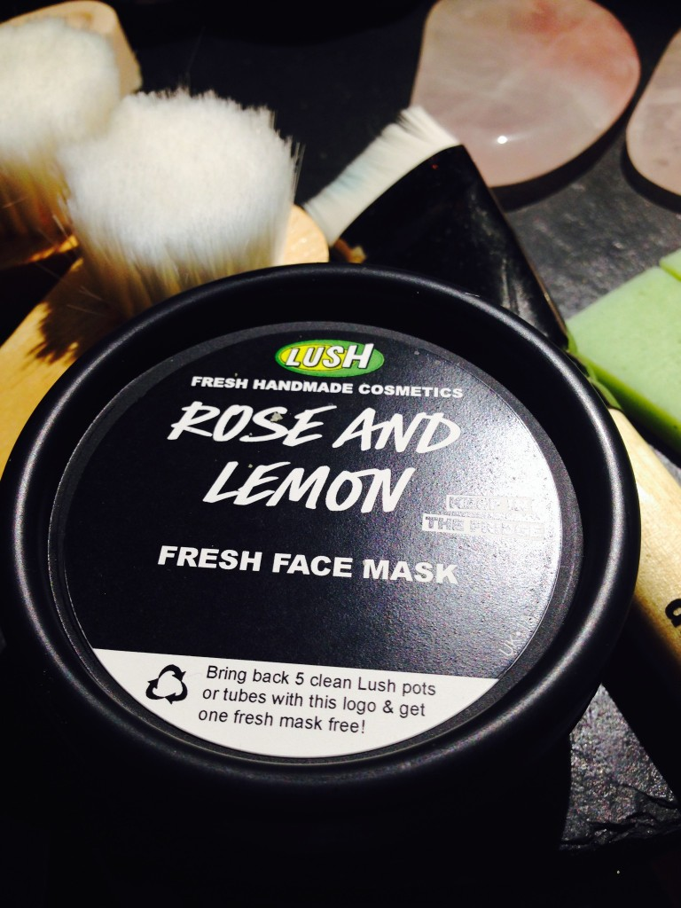 Lush Spa The Planets Treatment - Product: Rose and Lemon Fresh Face Mask