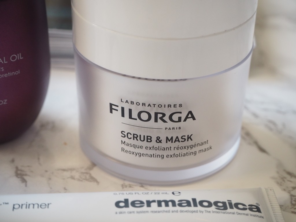 Vivaderma Perfecting Facial Oil_Filorga Scrub & Mask_Esthechoc_Instant Effects Lip Plumper_Instant Effects Lash Volumizer_Dermalogica Hydrablur Primer