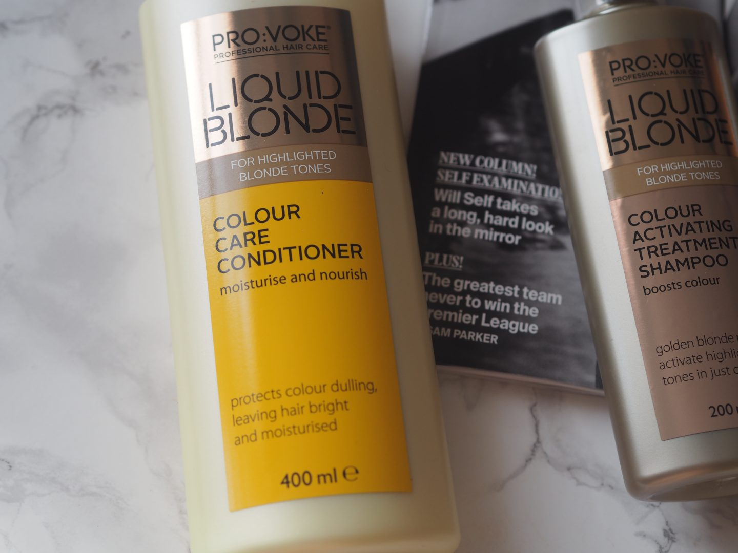 Pro:voke Liquid Blonde - Product: Colour Care Conditioner & Colour Activating Treatment Shampoo