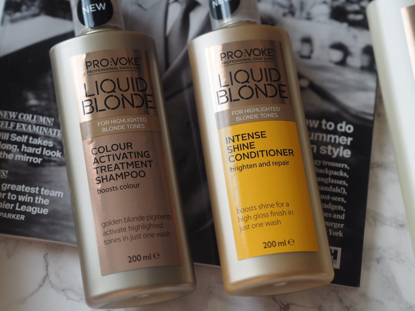 Pro:voke Liquid Blonde - Product: Intense Shine Conditioner & Colour Activating Treatment Shampoo