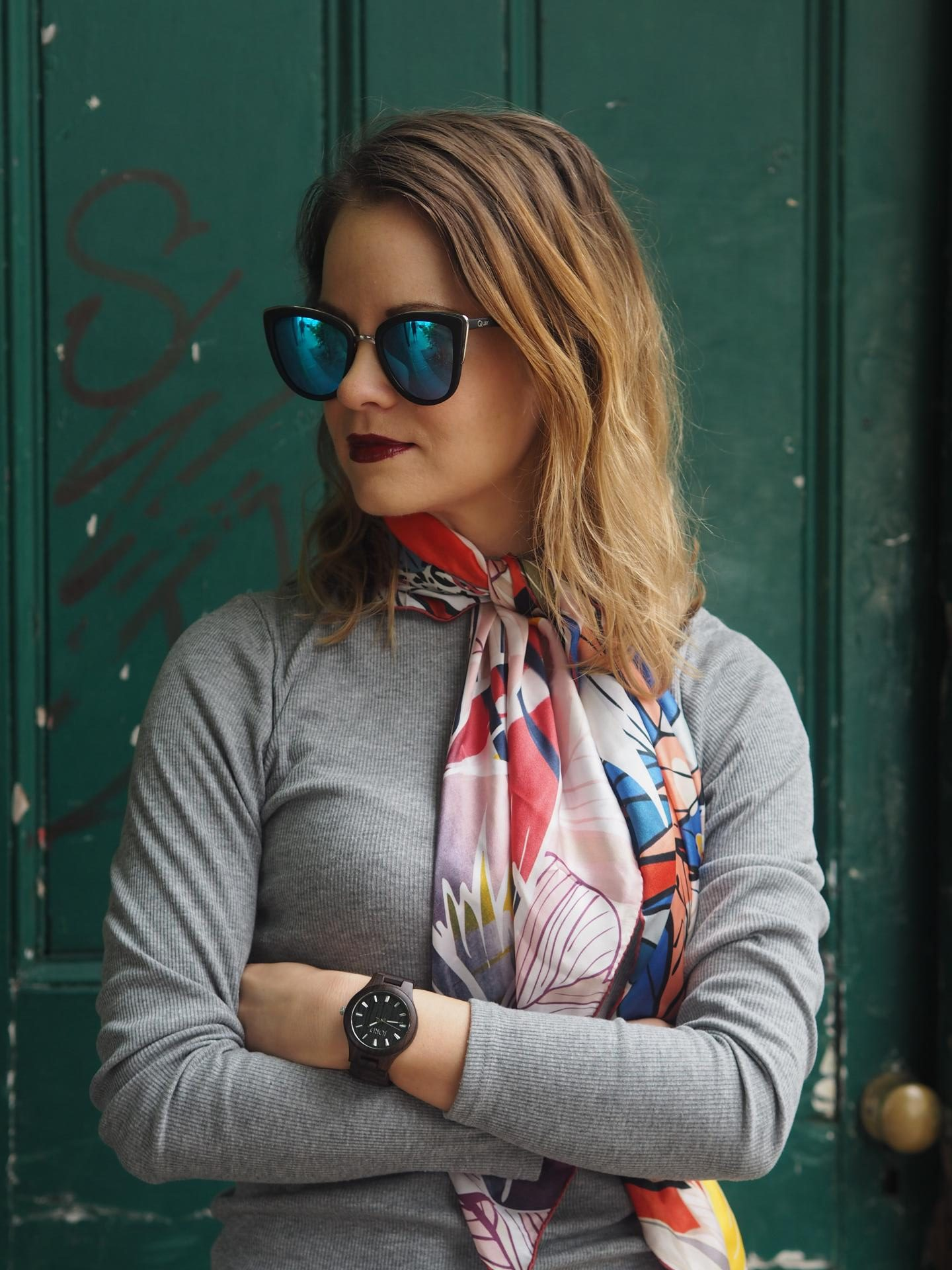 Jord Watch_womens watches_accessories_fashion bloggers_Beauty Rocks_Silk scarf
