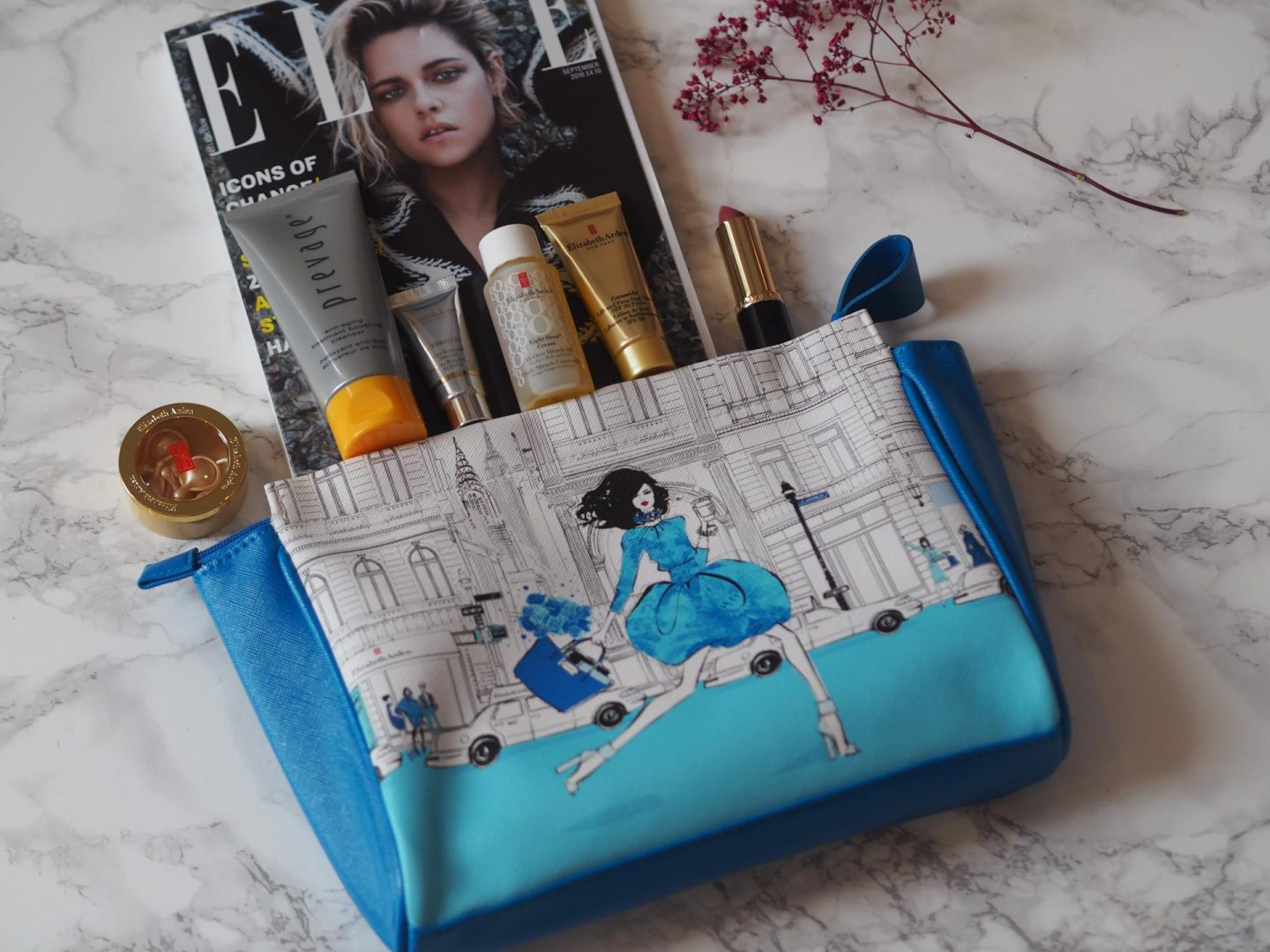 The Megan Hess cosmetics bag is an amazing gift with purchase if you buy even two Elizabeth Arden products. I love the Elizabeth Arden Visible Difference ...