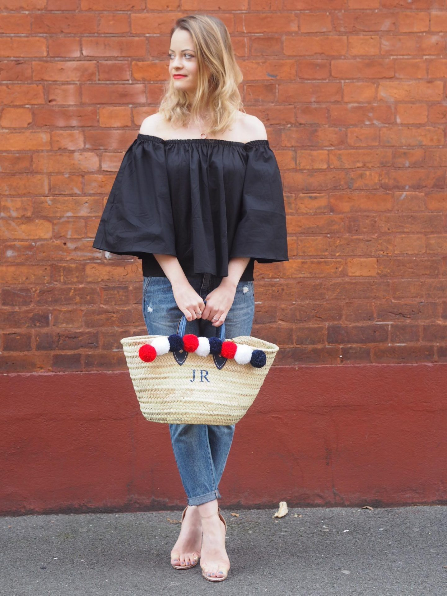 Rae Feather Bag with Bardot Top and Public Desire Heels