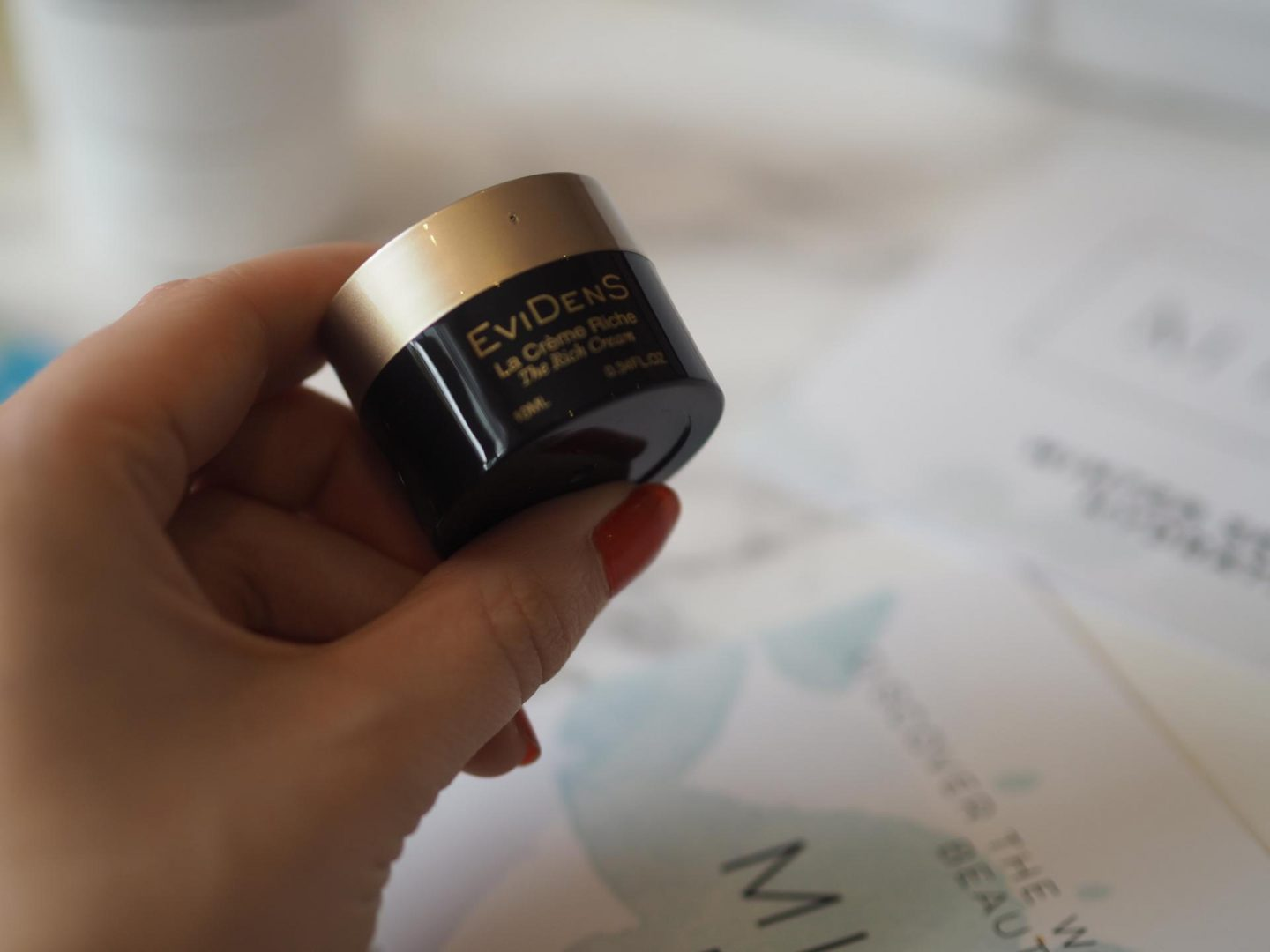 product in the MINTD box is the Evidens- Rich Cream