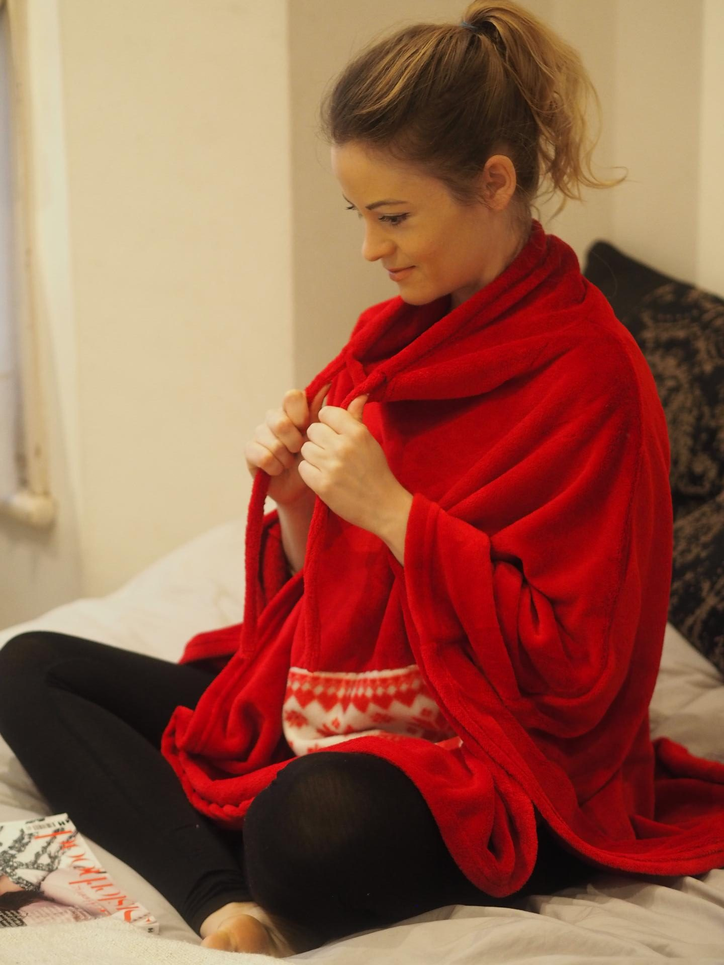 Avon Fair Isle PJs with Matching Funnel Neck Poncho