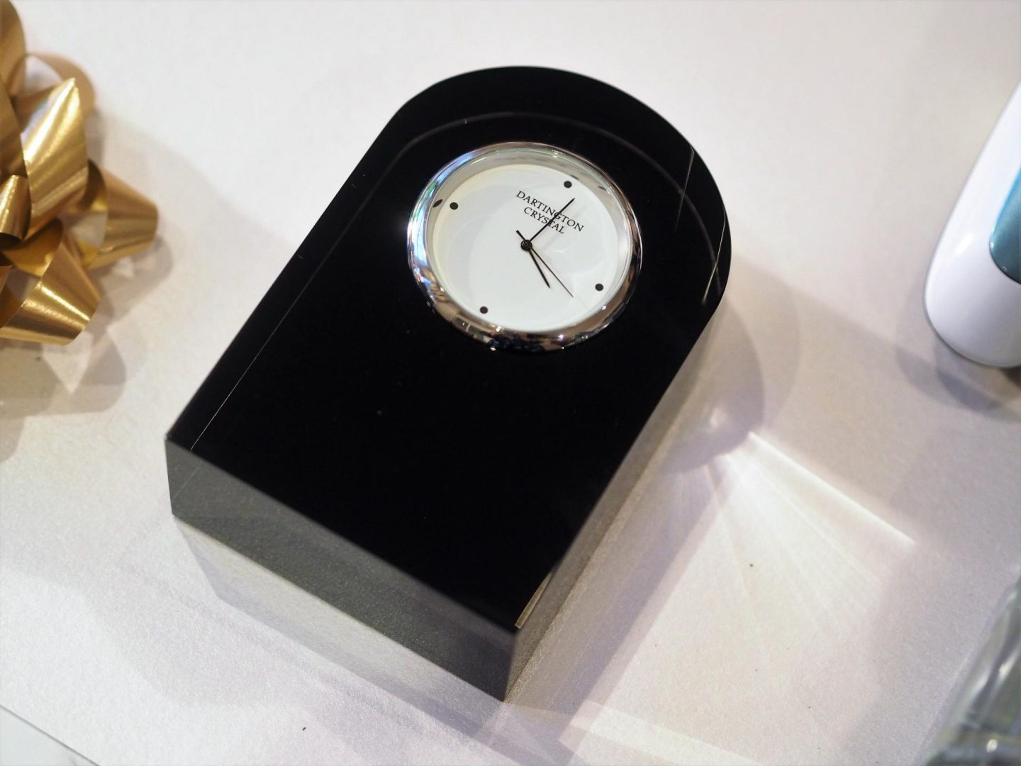 Dartington Small Curve Black Clock and Christmas Gifts for Men