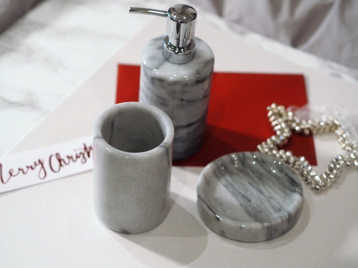 Heart of House Marble Bathroom Accessory Set