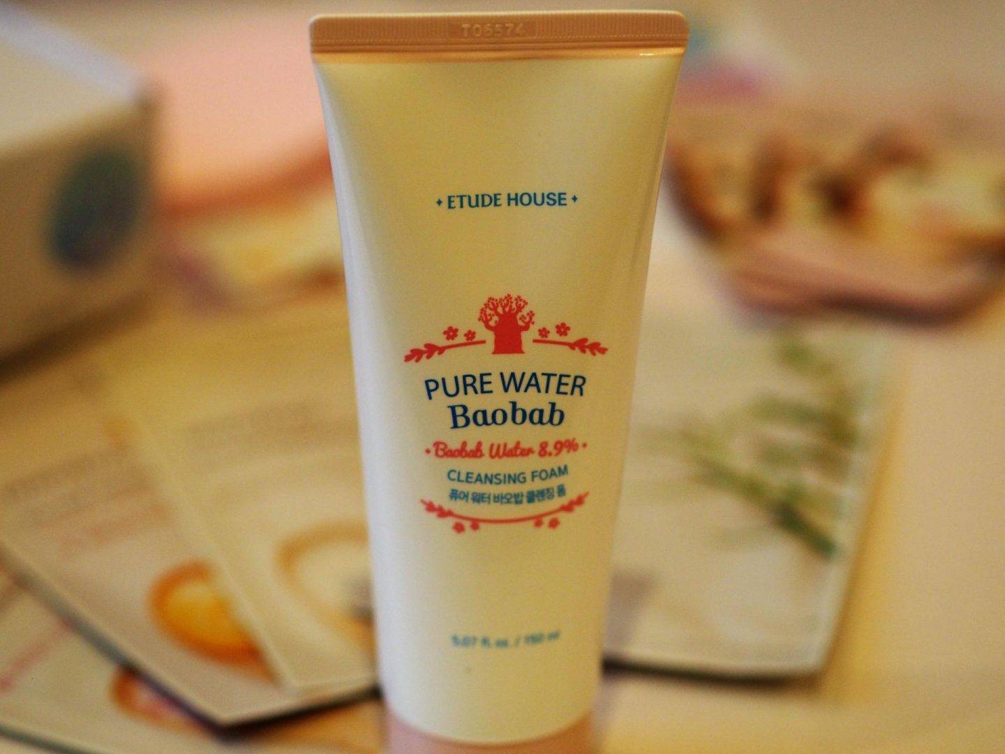 Etude House Pure Water Baobab Cleansing Foam
