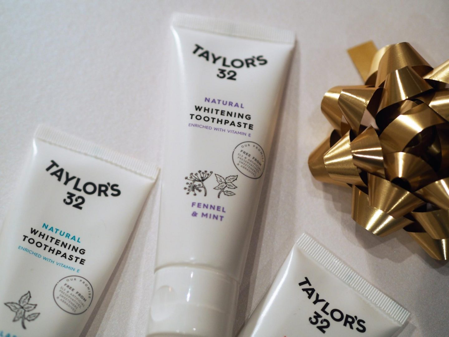 Taylor's 32 Natural Whitening Toothpaste (Fennel & Mint, Grapefruit & Mint, Classic Mint)