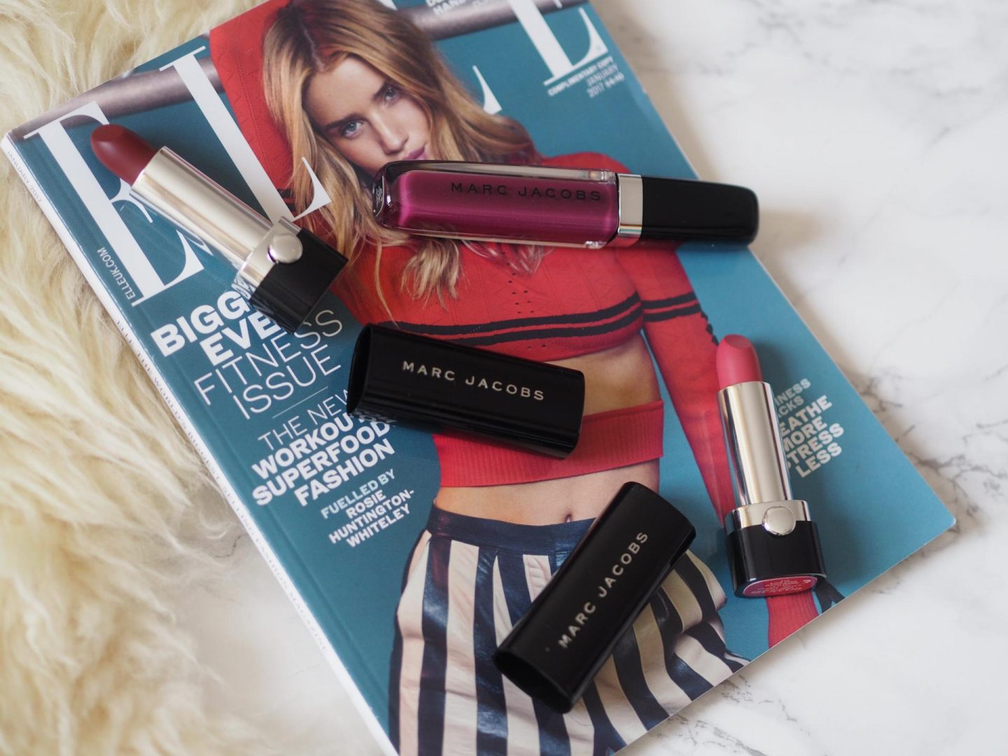 Valentine's Day gift ideas for her and Marc Jacobs Le Marc Lip Creme and Enamoured Lip Lacquer