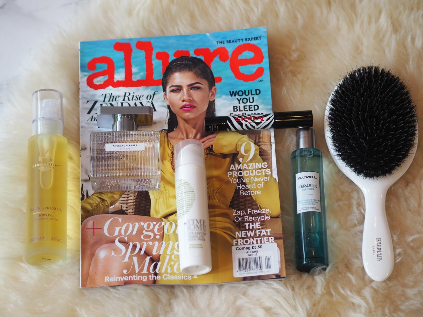 Beauty Products for January Blues with Balmain Hair Brush and Sisley Phyto-Lip twist
