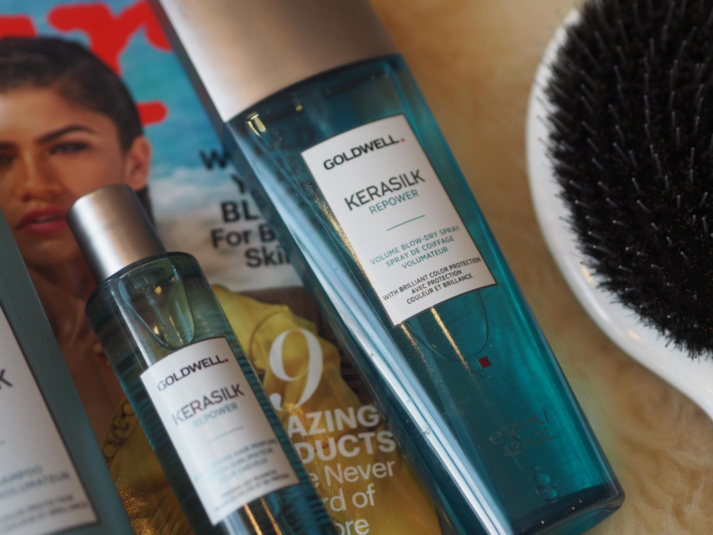 Goldwell Kerasilk Repower Volumising Shampoo as well as the Kerasilk Repower Volume Blow Out Spray