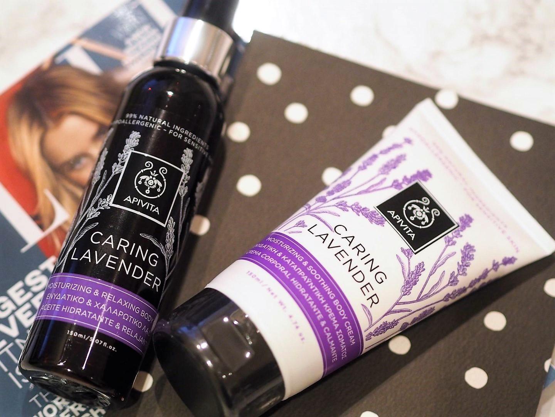 Apivita natural Greek brand with Caring Lavender