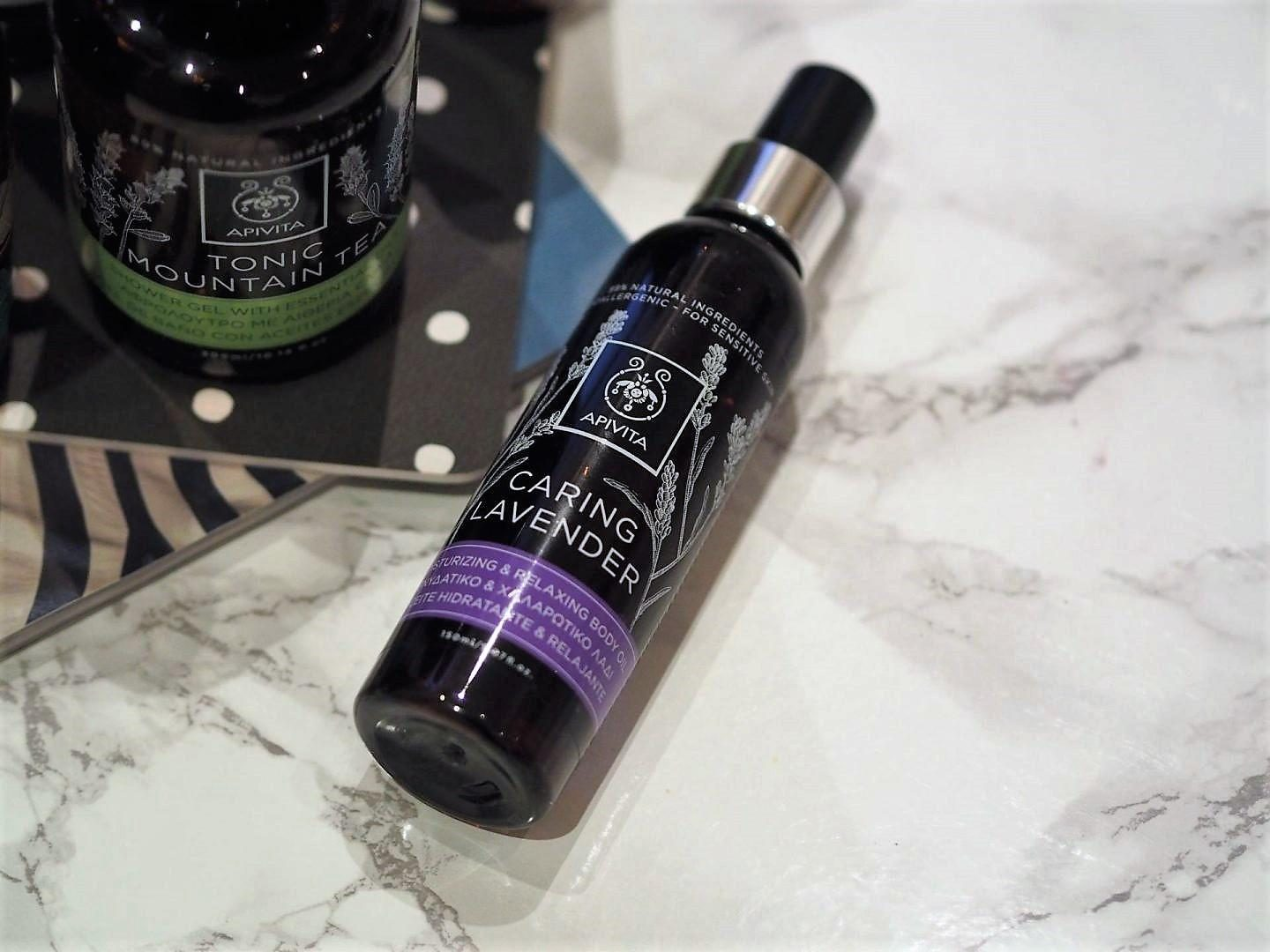 Apivita natural Greek brand with Caring Lavender and Green Beauty