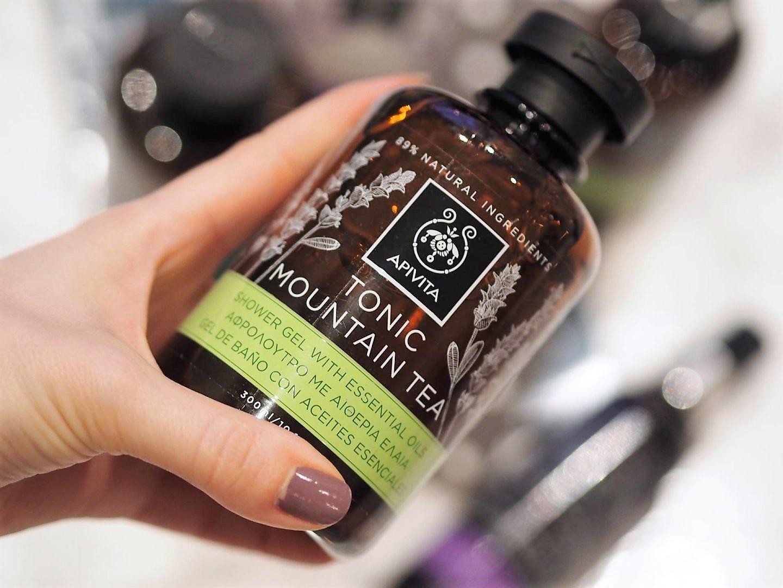 Apivita natural Greek brand with Tonic Mountain Tea and Refreshing Fig