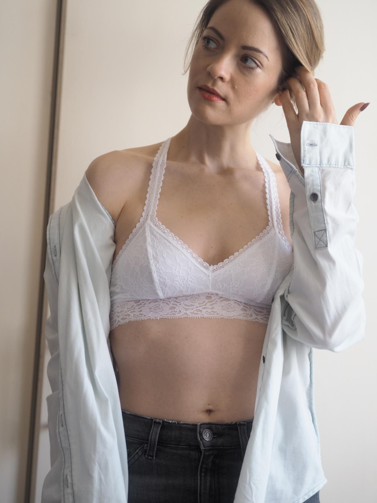 Passionata Crazy Lace Bralette in White