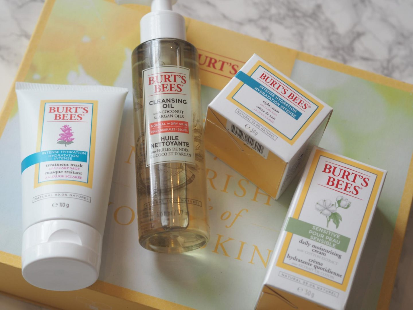 best green beauty products and Burt's Bees Cleansing Oil