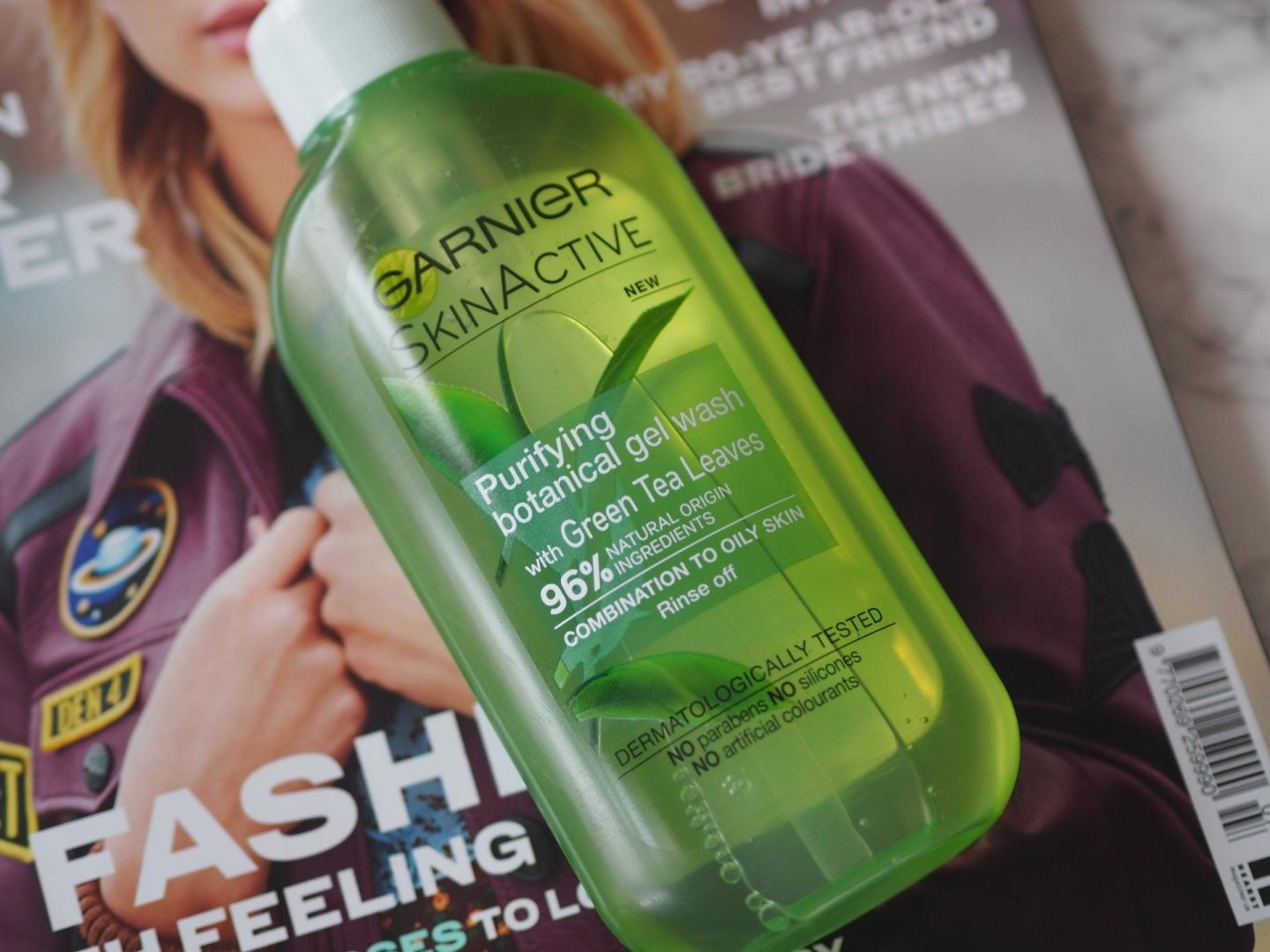 Best Natural Cleansers - Product Garnier Purifying Botanical Gel Wash with Green Tea Leaves