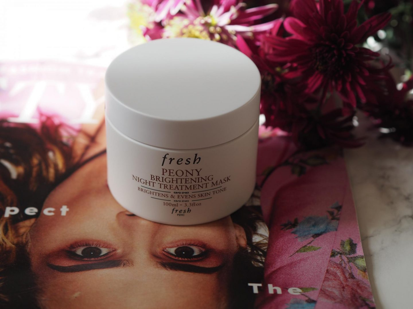 Flower Power - Product: Fresh Peony Brightening Night Treatment Mask