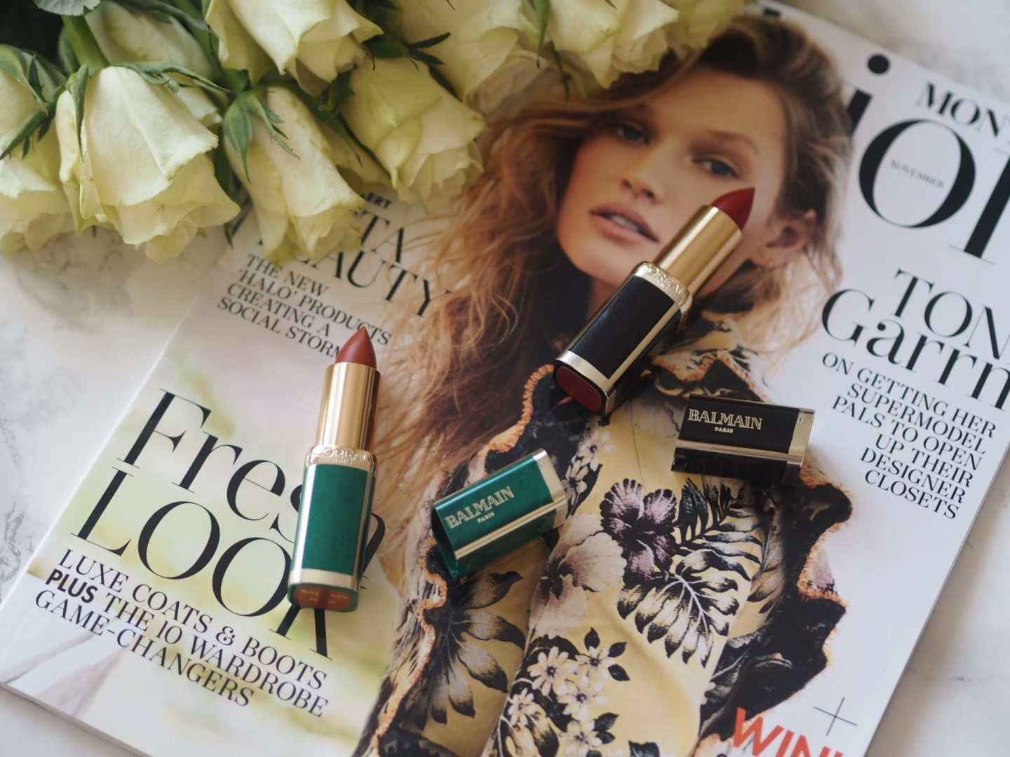 Winter Skincare - Product: L'Oreal x Balmain Lipsticks – Domination and Fever