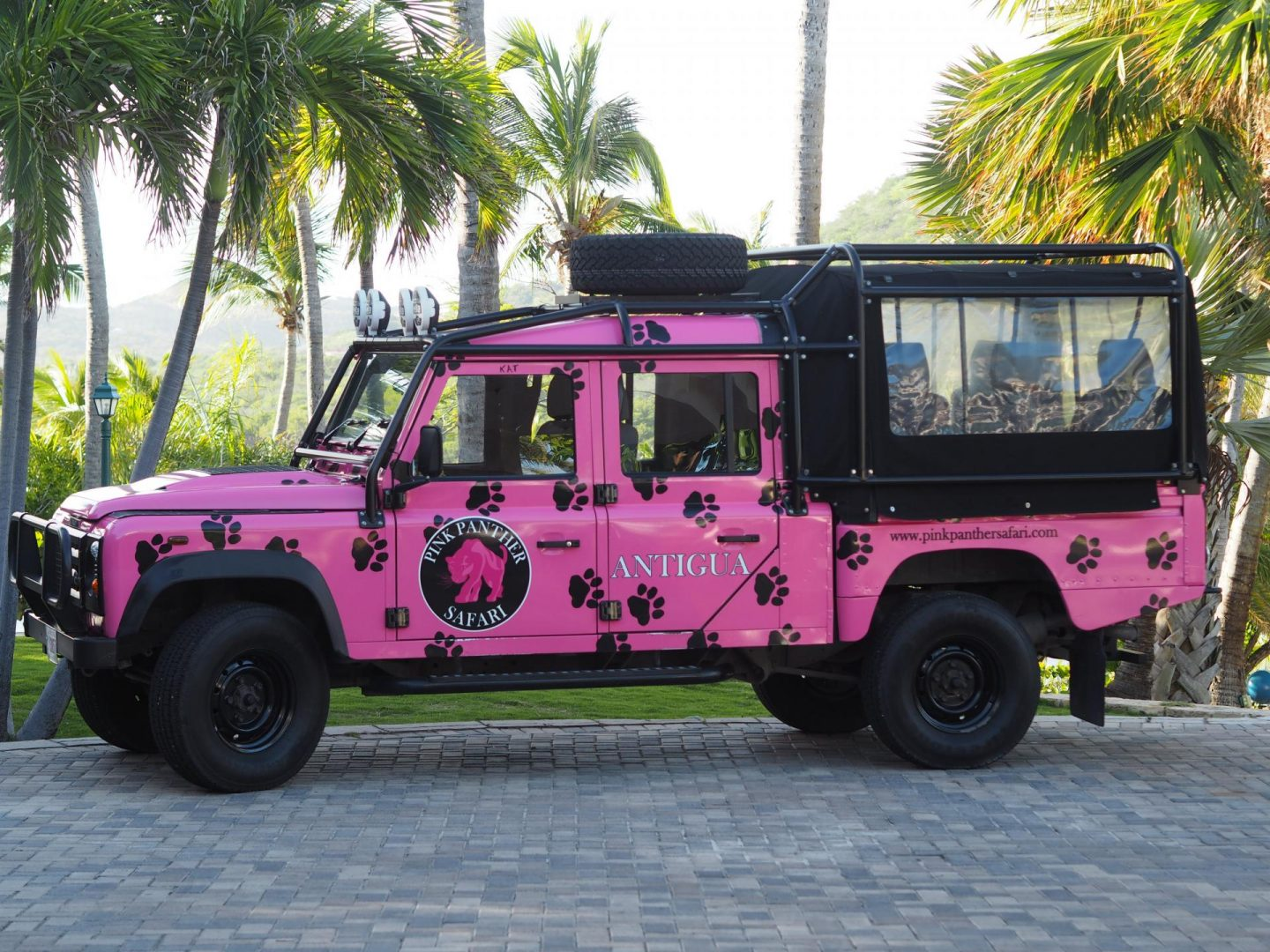 Pink Panther Safari while in Antigua