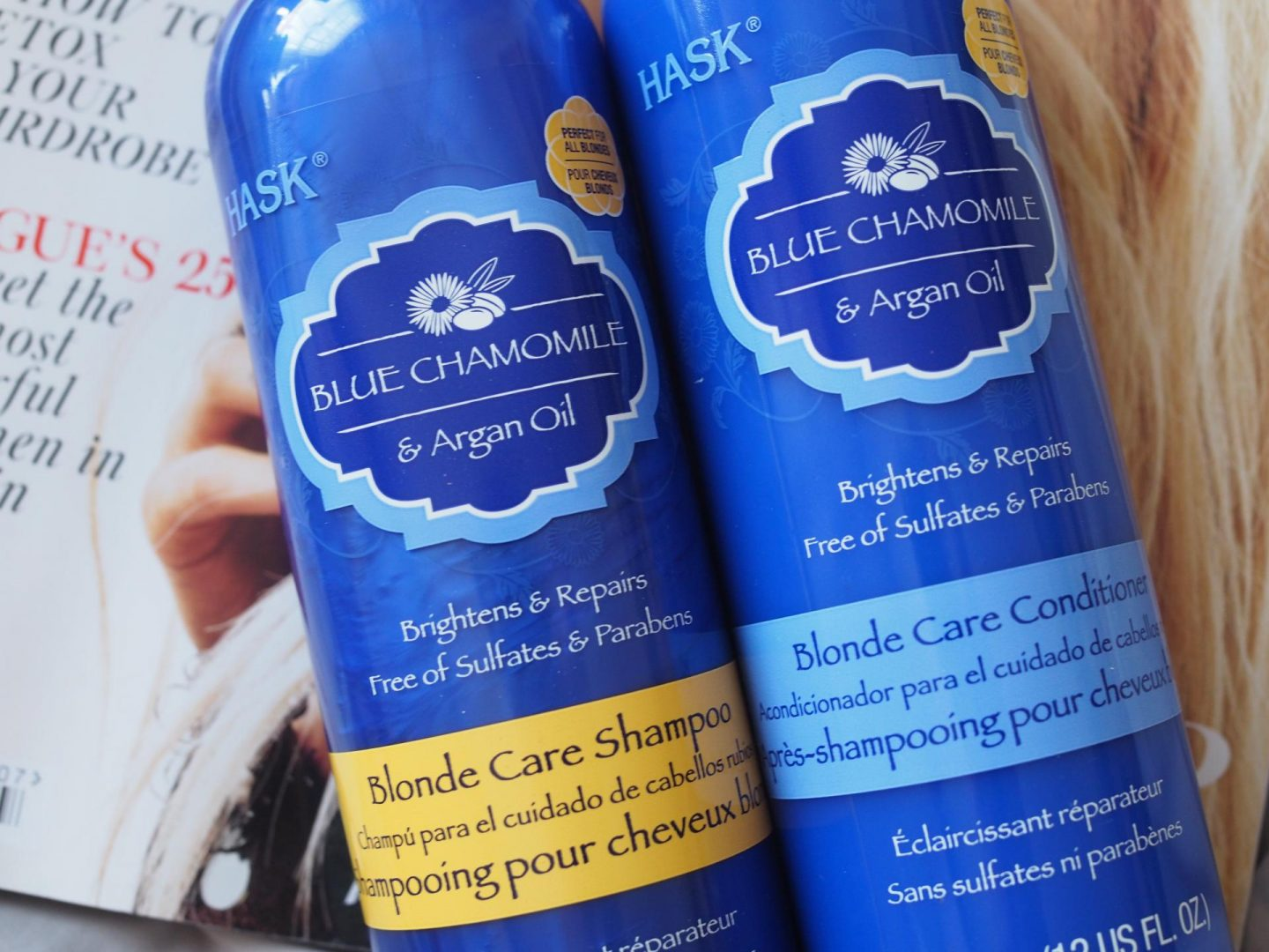 Hask Blue Chamomile & Argan Oil Blonde Care Shampoo/Conditioner