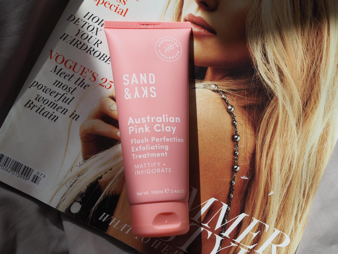 Sand & Sky Australian Pink Clay Flash Perfection Exfoliating Treatment