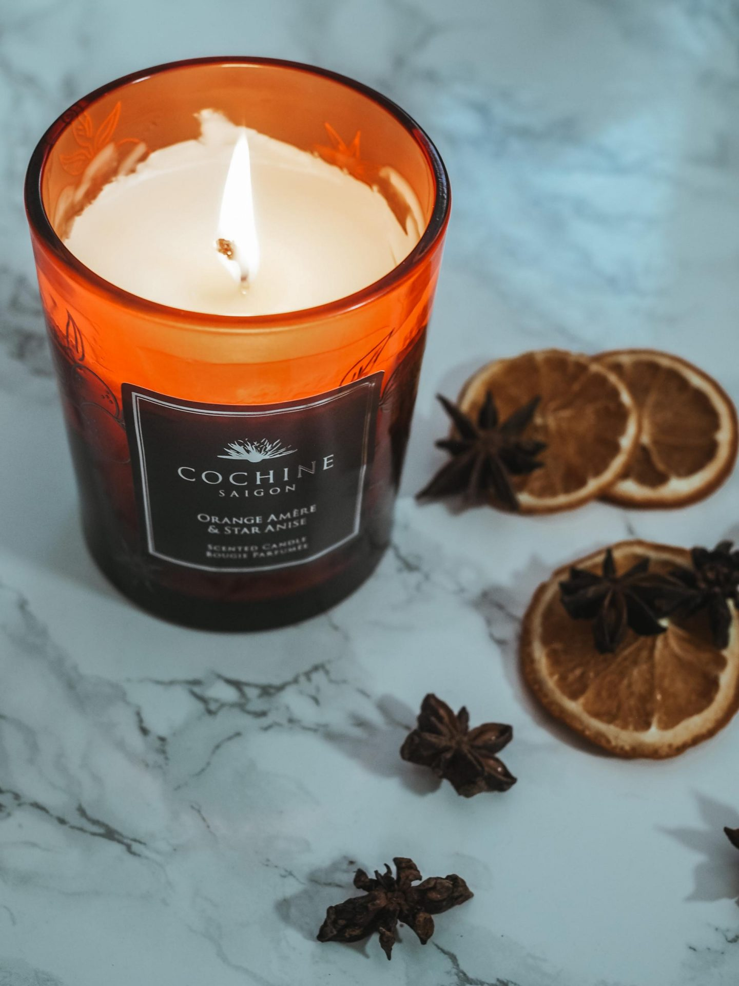 Cochine Orange AmÈre and Star Anise Scented Candle